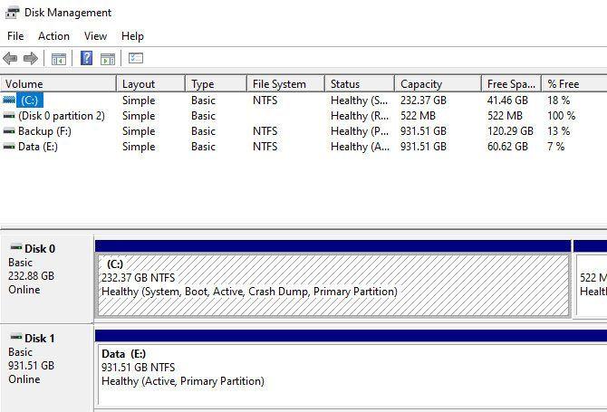Replace hard drive - Windows hard drive management