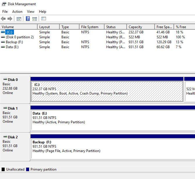 заменить жесткий диск - управление дисками Windows