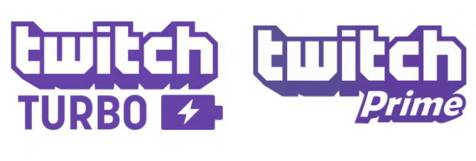 Twitch Turbo and Twitch Prime logos