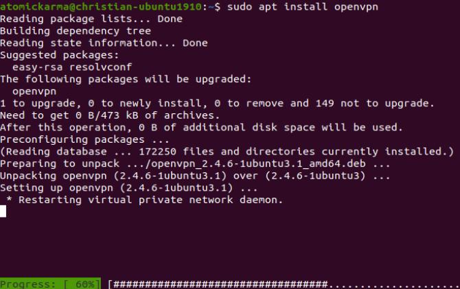 Как установить VPN-клиент на Ubuntu Linux vpnp linux vpn openvpn установить