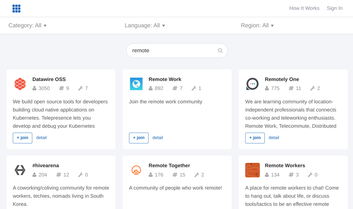 Find the best remote working communities for Slack on Slofile and OWL Labs