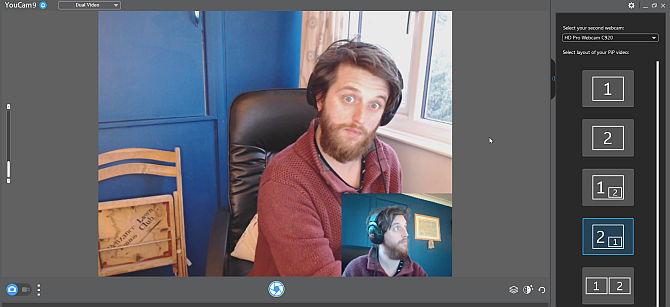 двойная камера в скайпе youcam9