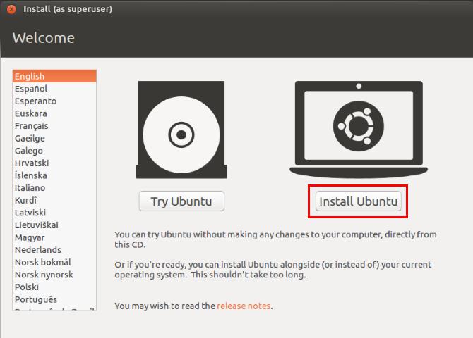 Installer Ubuntu depuis USB