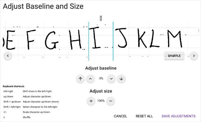 Baseline and Size adjustments for custom font