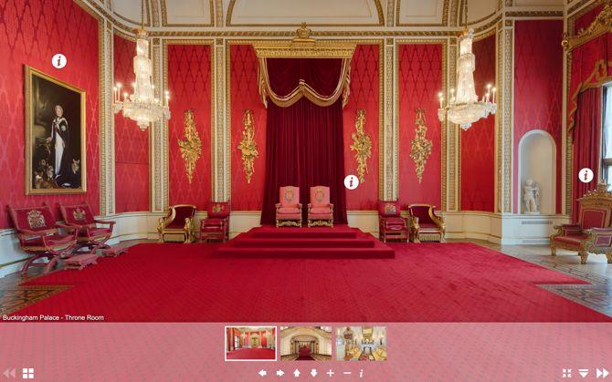 Виртуальный тур по Букингемскому дворцу