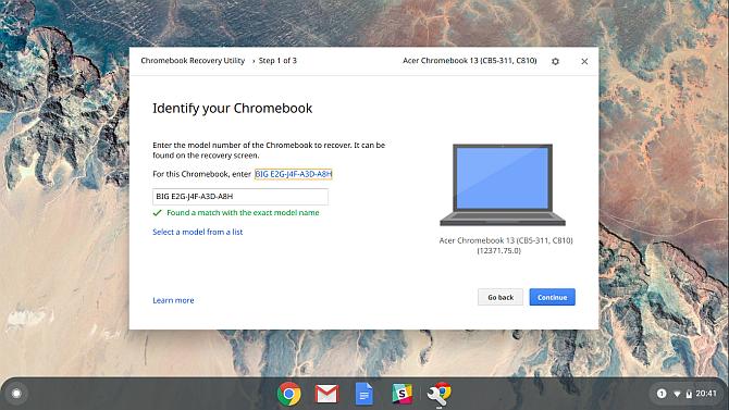 Chromebook создать восстановление