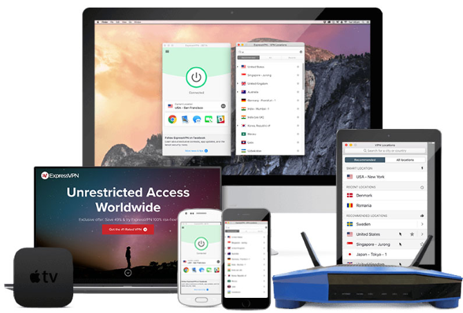 Get a free trial with ExpressVPN
