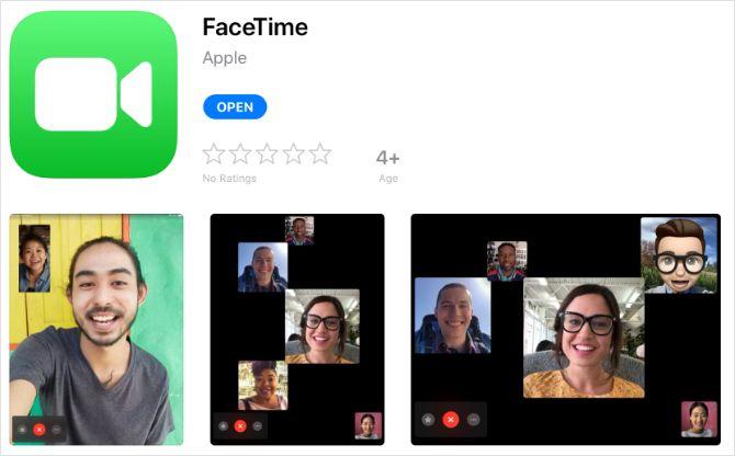 Приложение FaceTime в магазине приложений iPad