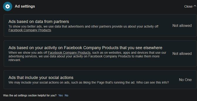 Настройки рекламы в Facebook