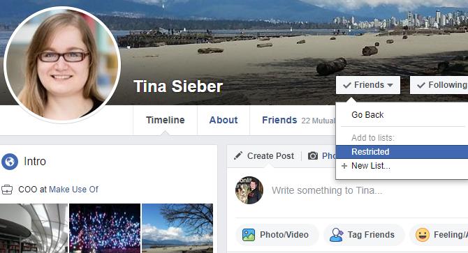Facebook ограничен