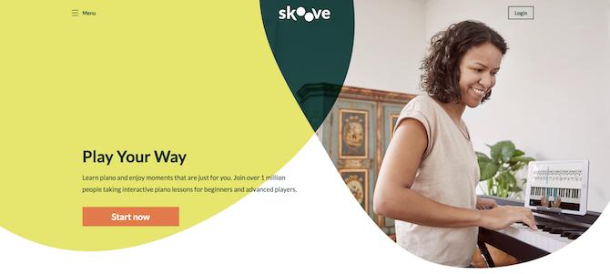 Skoove website screenshot