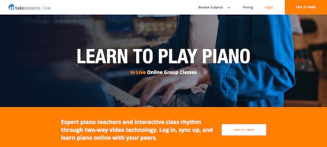 TakeLessons piano lesssons screenshot