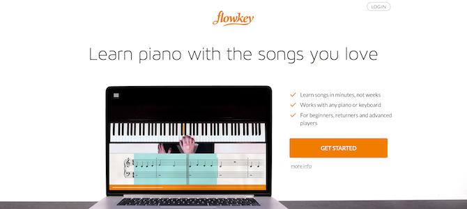 flowkey website screenshot