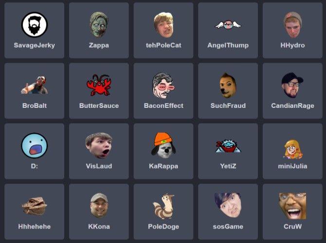 BetterTTV Free Twitch Emotes