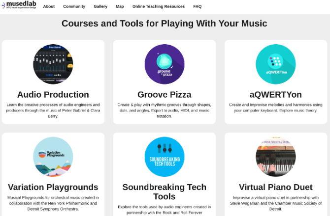 NYU's MusEDLab teaches you how to produce a song for free online with its Play With Your Music mini-site that uses Peter Gabriel's music