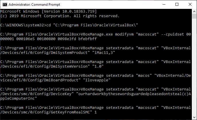 macos catalina command prompt virtualbox