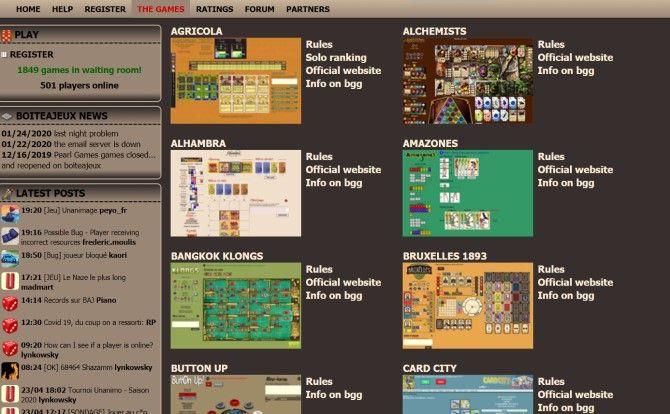 Boite a Jeux Play Настольные игры онлайн бесплатно