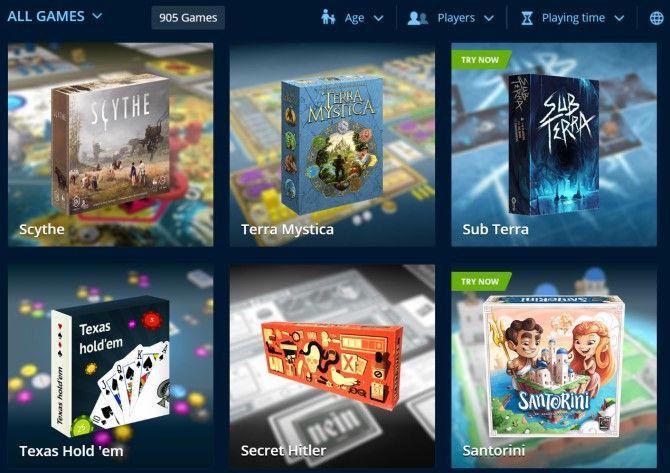 Tabletopia Play Настольные игры онлайн бесплатно