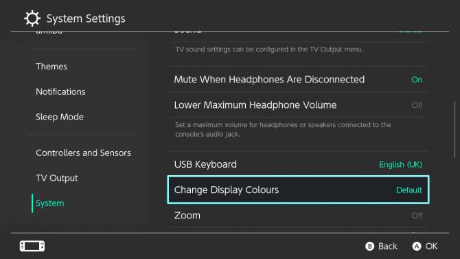 Nintendo Switch меняет цвета дисплея