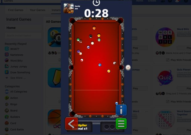 8 ball pool facebook website