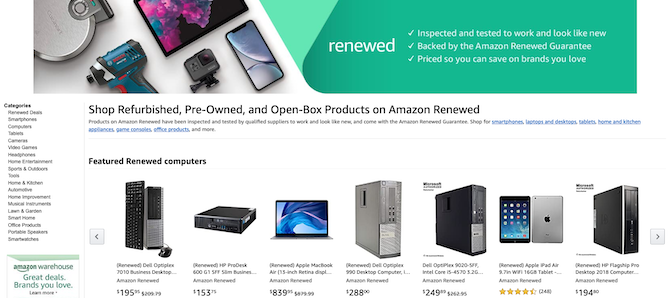 Amazon Renewed Storefront