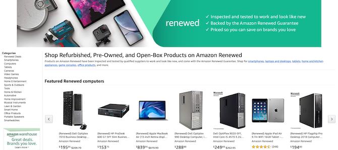 Amazon Renewed Storefront