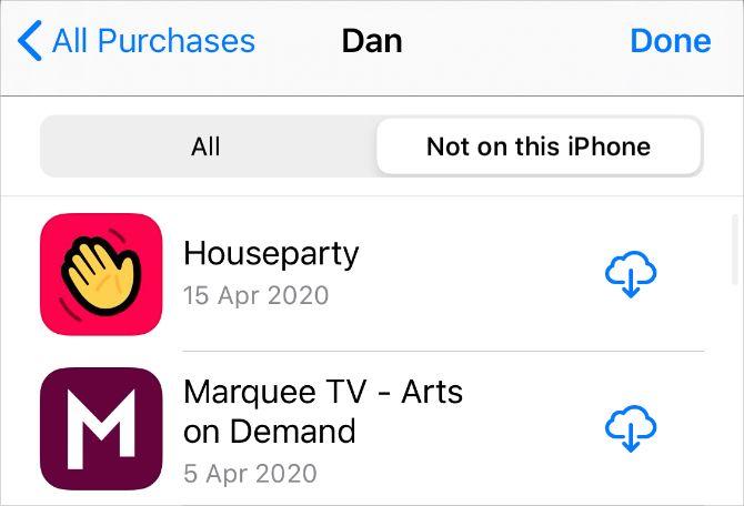 Покупки в App Store не на этом iPhone для скачивания