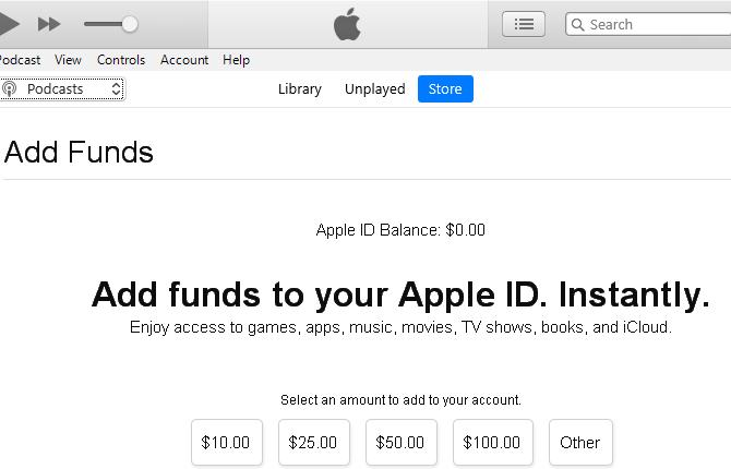 Apple ID Funds Windows