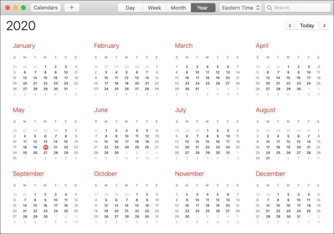 Календарь приложение Mac-Year View