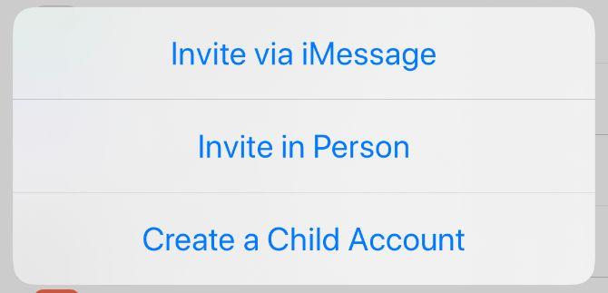 Создайте детскую учетную запись для семейного обмена на iPhone
