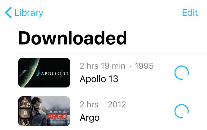 Purchased movies downloaded from iTunes