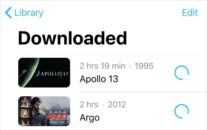 Загруженные купленные фильмы из iTunes