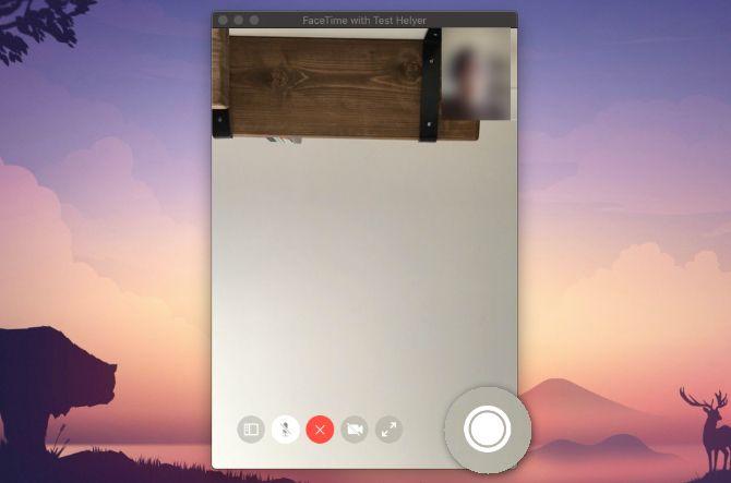 Кнопка затвора FaceTime Live Photo на Mac