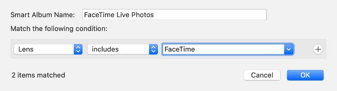 Фильтры FaceTime Live Photos Smart Album