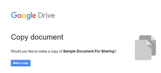 Сделайте копию в Google Docs