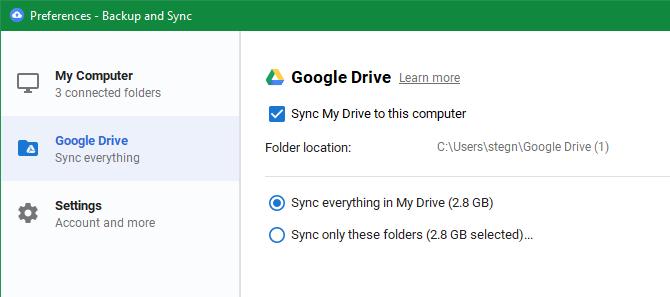 Google Drive перестает синхронизироваться
