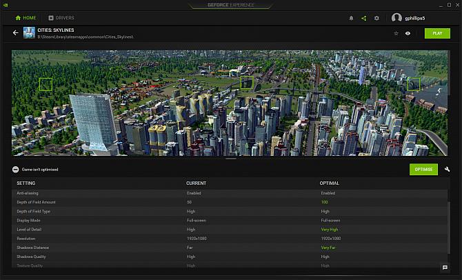 Опыт Nvidia Geforce автоматической оптимизации игры