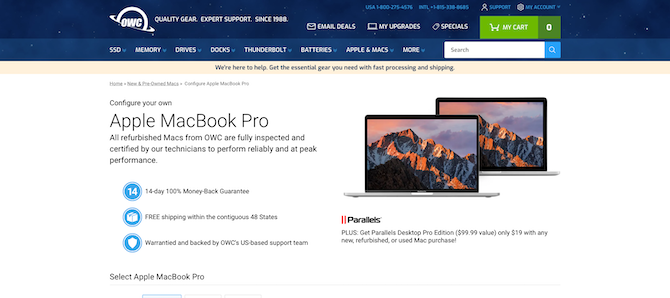 OWC reconditioned MacBook Pro Store