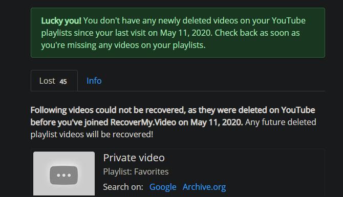 Главная страница RecoverMyVideo