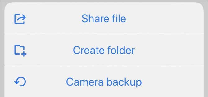 Опция «Отправить файл» из Resilio Sync