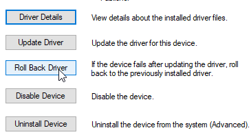Reset a touchpad driver