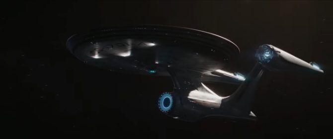 USS Enterprise in space