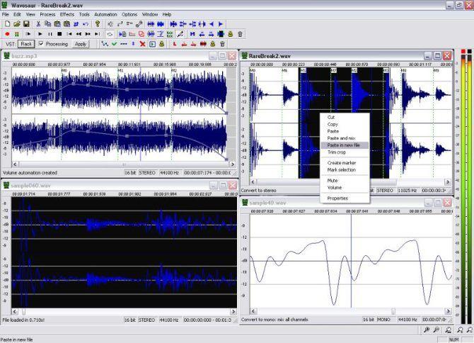 Wavosaur аудио редактор