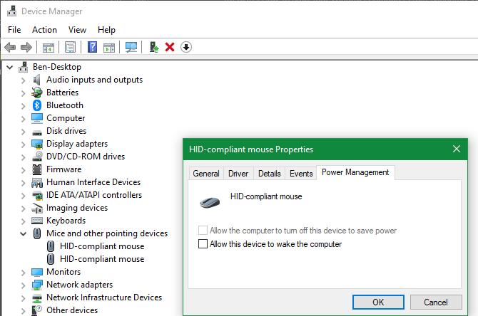Allow Windows device wake computer