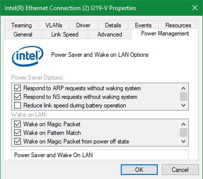 Deactivate Windows Wake in the LAN