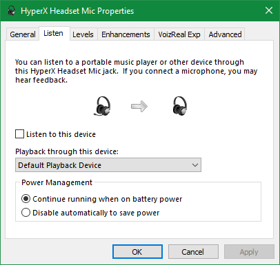 Windows Hear this device