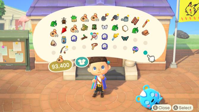 Animal Crossing: New Horizons inventory