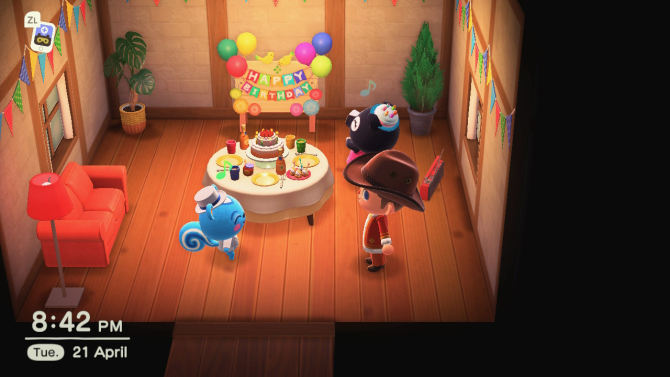 Animal Crossing: New Horizons party
