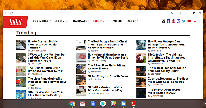 Launch Chromebook Set website as an app