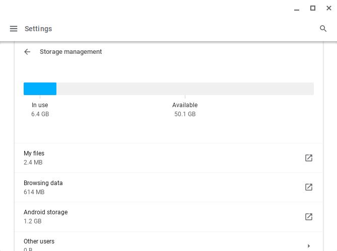 Chromebook storage options